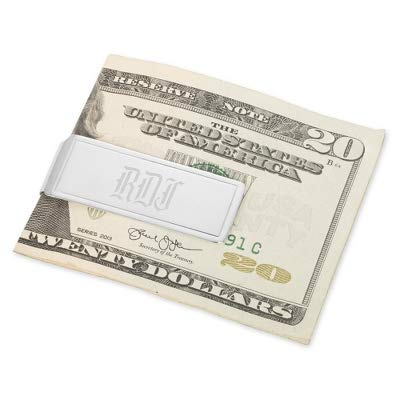 Things Remembered Personalized Sterling Silver Money Clip with Border with Engraving Included