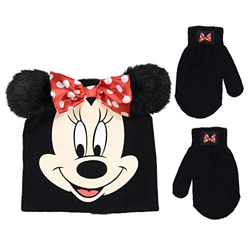 Disney Minnie Mouse Girls Beanie Knit Hat and