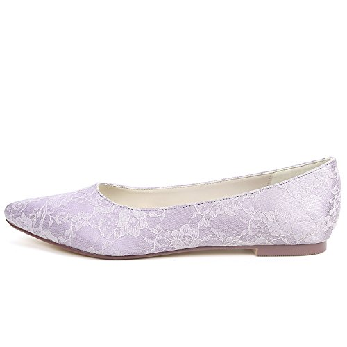 Forme Fashion Satin Plat Blue Mariage Chaussures Femmes L YC 0 De Plate Crossover Soir Party Bridal Chunky 6cm qZZ6HW1