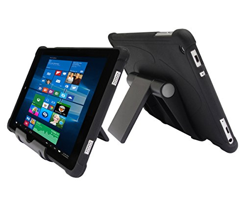 iShoppingdeals Protecive TPU Case + Adjustable Stand for Nuvision 8 (TM800W610L) Tablet Windows 2017 Release (Black)