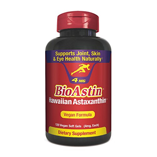 BioAstin Hawaiian Astaxanthin - VEGAN Formula - 120 ct - 4mg - Supports Joint, Skin, & Eye Health Naturally - A Super-Antioxidant Grown in Hawaii