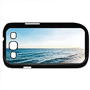 Sunset at the Beach (Beaches Series) Watercolor style - Case Cover For Samsung Galaxy S3 i9300 (Black)