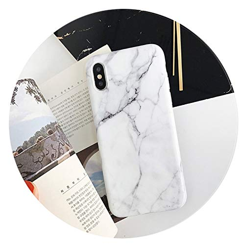 Vintage Marble Case for iPhone X XR XS Max 7 8 Plus Soft TPU Silicone Cover Cases for iPhone 8 7 6 6S Plus Back Capa,White 2,for iX XS (5.8inch)