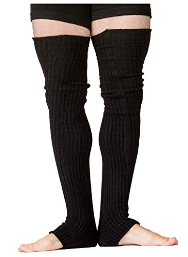 Mens Leg Warmers 30 Inch Thigh High Knit KD dance MADE IN USA