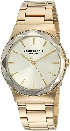 Kenneth Cole New York Women's Analog-Quartz Watch with Stainless-Steel Strap, Gold, 20 (Model: ()