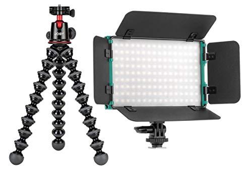 Joby GorillaPod 5K Kit, Black - with CLAR Slim Series Bi-Color 144 SMD LED On-Camera Light