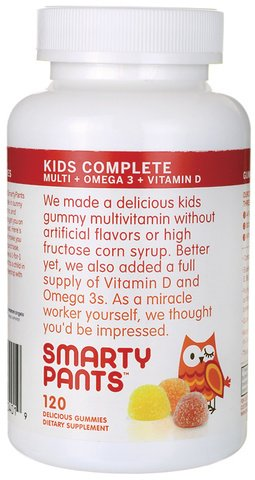 SmartyPants Kid'S Complete Multi-Omega-Vitamin D 480 Gummies ,Gummy-sh