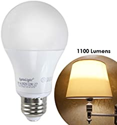 LED Dimmable Light Bulb - 12W (75W Replacement) 2700K Warm White Lamp 1100 Lumens