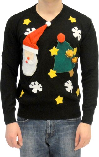 Why would you want to spend time and yarn on an ugly sweater? I would buy a cheap one rather than make one. Rethink eastreads.ml opinion.:) For myself the