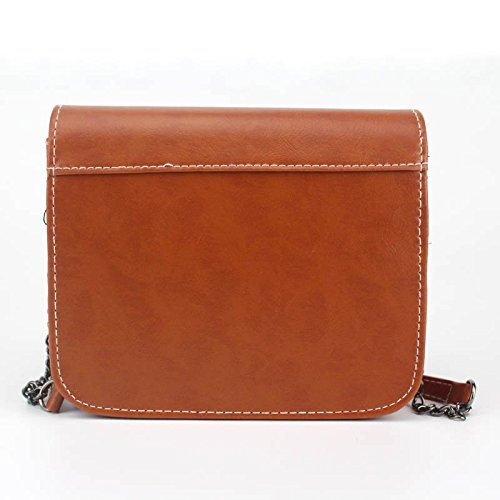 Handbag Bags Clutches Messenger Mini Small Bag Marron Square Hrph Chain Lady Shoulder Bag Retro Handbags Women 6wEqgqI
