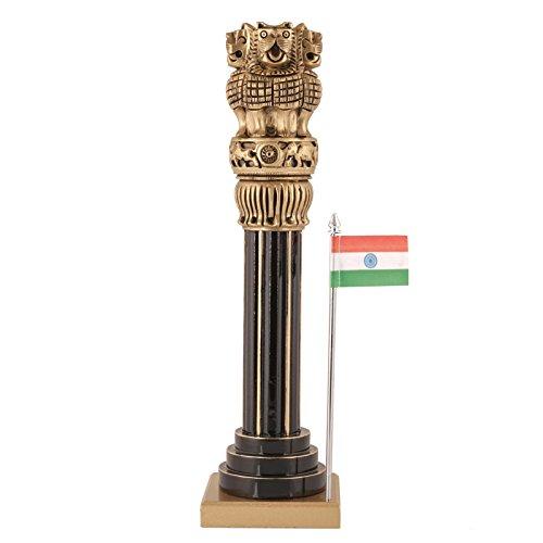 CraftVatika Large Wooden Ashoka Pillar Ashoka Stambh Indian National Emblem Symbol Ashok Chakra Idol Gift (12.5 ()