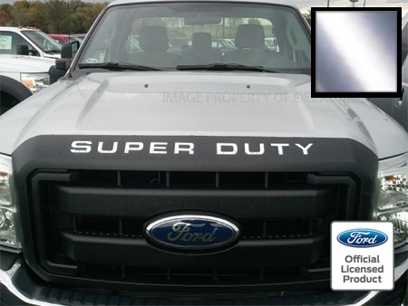 Ford SUPER DUTY Letter Inserts (thin) for Hood / Grille Chrome Decal - CCHR (2008-2016) F250 F350 F450 Sticker ()