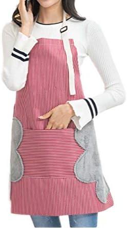 Nanxson Tablier Femmes avec Bretelles R/églables Coton pour Cuisine Caf/é Bistrot Coiffeur Salon de Beaut/é