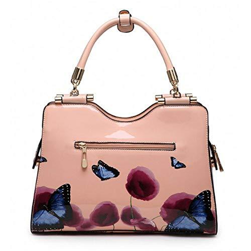 8ea492e2fe4f Ladies Patent Poppy Butterfly Shoulder Bag - Women s Designer Floral Grab  Handbag M34510 - Buy Online in Oman.