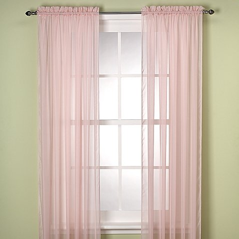 Gorgeous Home (SHEER) 2PC LIGHT PINK STANDARD SIZE 55″WIDE X 84″ LENGHT SOLID PLAIN COLOR SOFT VOILE SHEER WINDOW CURTAIN PANEL ROD POCKET DRAPE TREATMENT FOR MULTIPLE USE