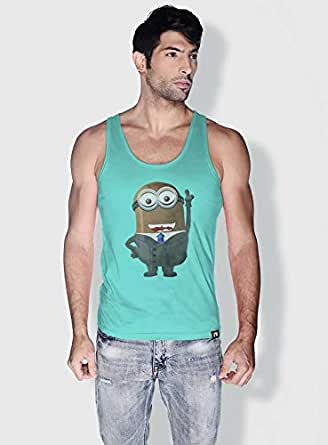 Creo Barak Obama Minions Tank Top For Men - Green, S