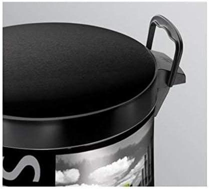 18.7 x 18.7 x 24 cm Lamiera litografata Decoro Metropolis con Secchio in plastica Meliconi Pattumiera a Pedale 5 lt Made in Italy