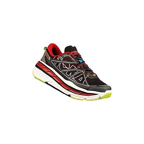 Hoka One One Stinson Lite Road Running Shoe - Men's-Black/True Red-Medium-13 US