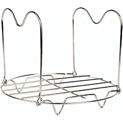 Steamer Rack Trivet with Handles Compatible for Instant Pot 6 & 8 qt Accessories - Great for Lifting out Springform Pan / Cheesecake Pan