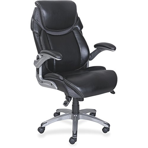 Lorell Leather (Lorell Wellness by Design Leather Executive Office Chair in Black)
