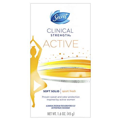 Secret Antiperspirant Deodorant for Women, Clinical Strength Soft Solid, Sport Fresh, 1.6 Oz