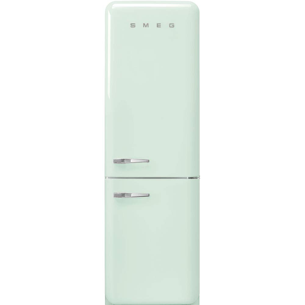 "Smeg FAB32URPG3 50's Retro Style Aesthetic 24"" 50'S Style Refrigerator With Automatic Freezer, Pastel Green, Right Hand Hinge"