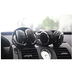 2017 Updated Car Headphone,XINDA 2 Packs Double Channel Wireless Infrared Car Headset Foldable Vechile IR Headphones with for In-Car TV DVD Video