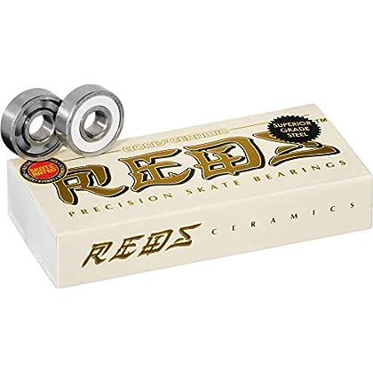 Image of Bearings Bones Ceramic Super Reds Bearings 8mm 16 Pack