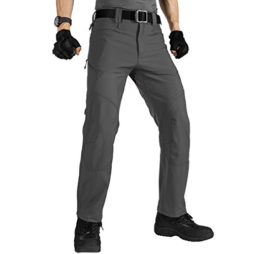 (FREE SOLDIER Men's Military Tactical Pants Outdoor Nylon Ripstop Work Trousers with Zipper Pockets(Gray 36W/30.5L) )