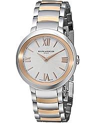 Baume & Mercier Womens BMMOA10159 Promesse Analog Display Quartz Two Tone Watch