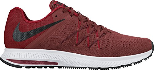 Nike Zoom Winflo 3 Dark Cayenne/Black/University Red Mens Running Shoes, Dark Cayenne/Black, 45 D(M) EU/10 D(M) UK