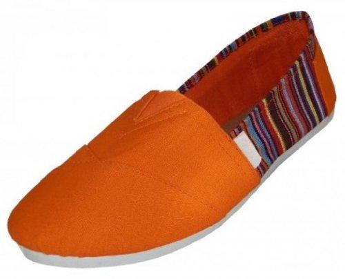 EasySteps Slip-On Damenschuhe mit gepolsterter Einlegesohle Orange