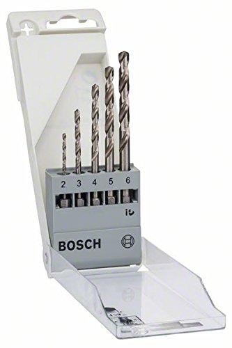 Bosch Pro 5tlg. Metallbohrer-Set (HSS-G geschliffen mit 1/4 Zoll-Sechskantschaft)