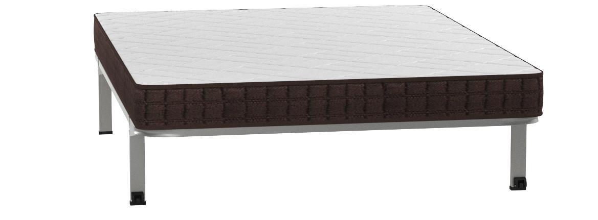 HOGAR24 ES Cama Completa-Colchón Viscobrown Reversible + Somier Basic + 4 Patas, 150 x 190