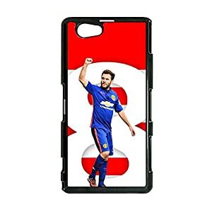 Offical Custom Manchester United Cover Case for Sony Xperia Z1 Compact MUFC Juan Mata