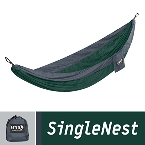 Eagles Nest Outfitters – SingleNest Hammock, Forest/Charcoal (FFP)