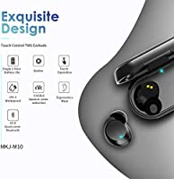 HOMVILLA Auriculares Inalámbricos para Deporte, Auriculares Bluetooth Mini Verdadero, Micrófono Auriculares 60H Playtime TWS, Wireless Bluetooth 5.0
