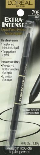 L'Oreal Paris Extra-Intense Liquid Pencil Eyeliner, Gray, 0.03 Ounces