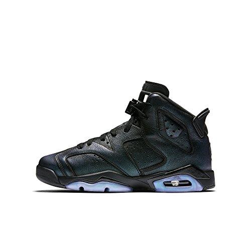 Jordan Nike Kinder Air 6 Retro AS BG Basketballschuh Schwarz, Schwarz-Weiß