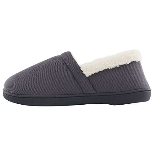 Shoes Memory w Gray Comfy Fuzzy Outdoor Indoor Slippers Sole Knit Cotton Foam House Men's x0ZTB66