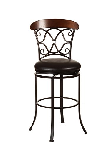 Hillsdale Furniture 5026-826 Swivel Counter Stool, Dark Coffee (Hillsdale Round Bar Stool)