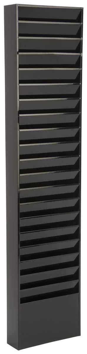 Displays2go File Folder Wall Rack, 20 Pockets, Tiered, Office & Medical Charts, Black Steel (JMFF20BLK) (Renewed) by Displays2go