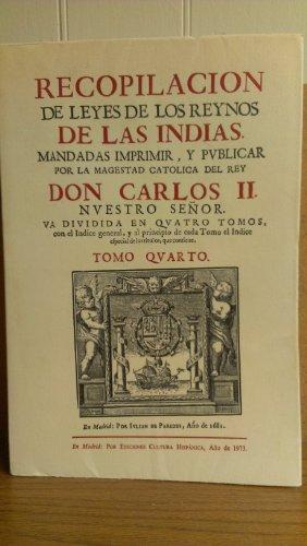 Recopilación de leyes de los reynos de las Indias (Spanish Edition)