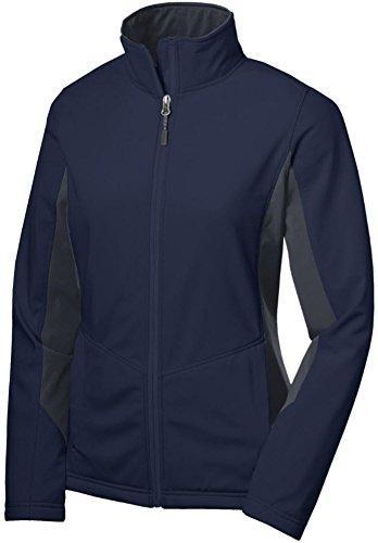 Joe's USA(tm Ladies Lightweight Active Soft Shell Jacket-Navy/Grey-3XL