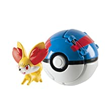 TOMY T18876 Pokemon Throw 'n' Pop Fennekin & Great Ball Action Figure