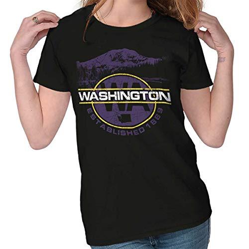Washington WA Pacific Northwest Cascades Ladies T Shirt ()