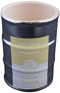Ma deco casa 305805011Cache-Pot lata cerámica amarillo 7x 7x 10cm