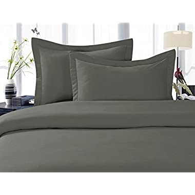 Elegant Comfort® 1500 Thread Count Wrinkle,Fade and Stain Resistant 4-Piece Bed Sheet set, Deep Pocket, HypoAllergenic - King Grey