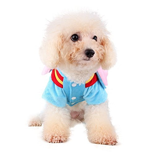OSPet Pet Elephant Halloween Velet Fleece Lining Coat Jacket Small Dog Costume...