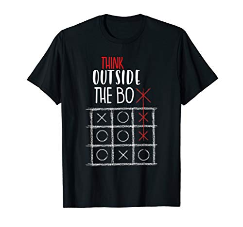 Tic Tac Toe Game Think Outside The Box Be Different Funny T-Shirt